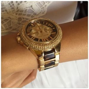 Michael Kors Tortoise Glitz Watch